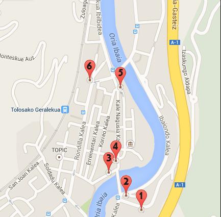 BEANTATUZ_mapa kokapenak_artistak_2014_Tolosa_Street Art